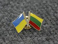 Значок Флаг Украины и Литвы