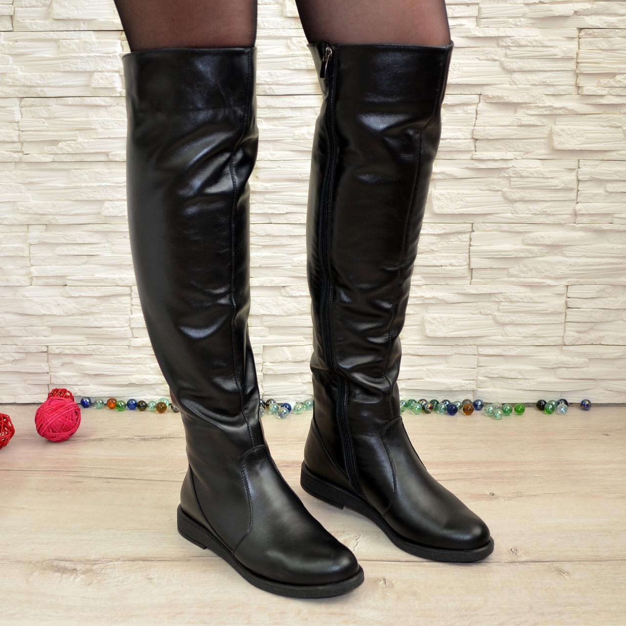 75ad73b96 Женские кожаные зимние ботфорты на низком ходу: продажа, цена в ...