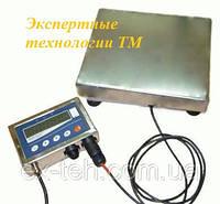 Товарные нержавеющие электронные весы ТВ1-60-10-(400х550)-12h до 60кг.