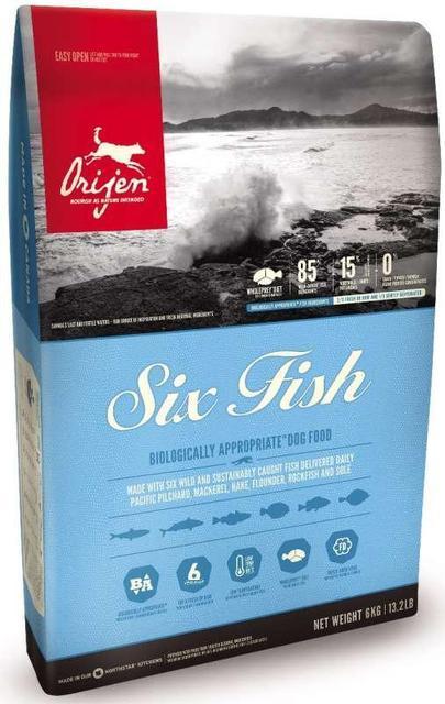 Orijen Six Fish Dogs 11,4 кг -гіпоалергенний корм для дорослих собаки цуценят