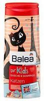 Шампунь для волос + душ  детский Balea 300 мл Кошка