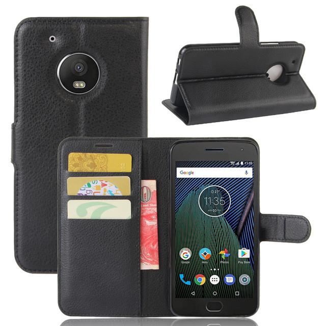 Чехол Motorola Moto G5 / XT1676 книжка PU-Кожа черный