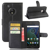Чехол Motorola Moto G5 / XT1676 книжка PU-Кожа черный, фото 1