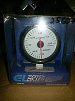25607 APEXI Давление турбины, с отсечкой, стрелочный диам.60мм.черный в корпусе подсветка голубая, фото 1