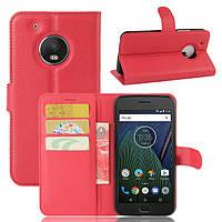 Чехол Motorola Moto G5 / XT1676 книжка PU-Кожа красный