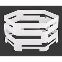 Фуршетная база шестигранник d30хh15 белая
