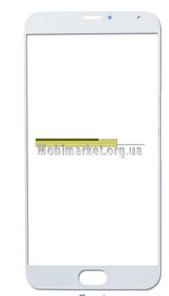 Скло модуля для Meizu MX5 біле, фото 2