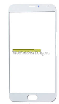 Стекло модуля для Meizu MX5 белое, фото 2