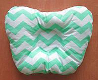 Подушка ортопедическая детская 28х23см мятная