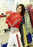Куртка женская  летняя ажурная красная