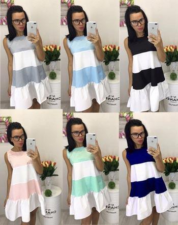 Летнее свободное платье - 6 цветов! - СТИЛЬНАЯ ДЕВУШКА интернет магазин  модной женской одежды в e18e5ab6f7b