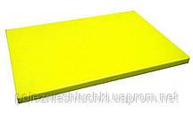 Доска разделочная пластиковая 60х40х2 см. прямоугольная, желтая Durplastics