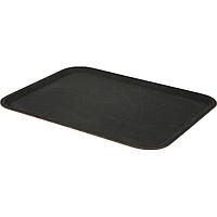 Поднос для официанта из стекловолокна нескользящий черный 46х36 см. прямоугольный Lacor