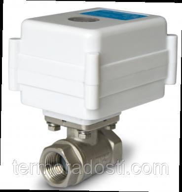 """Кран с электроприводом Neptun Aquacontrol 220В 1"""" (система защиты от протечки)"""