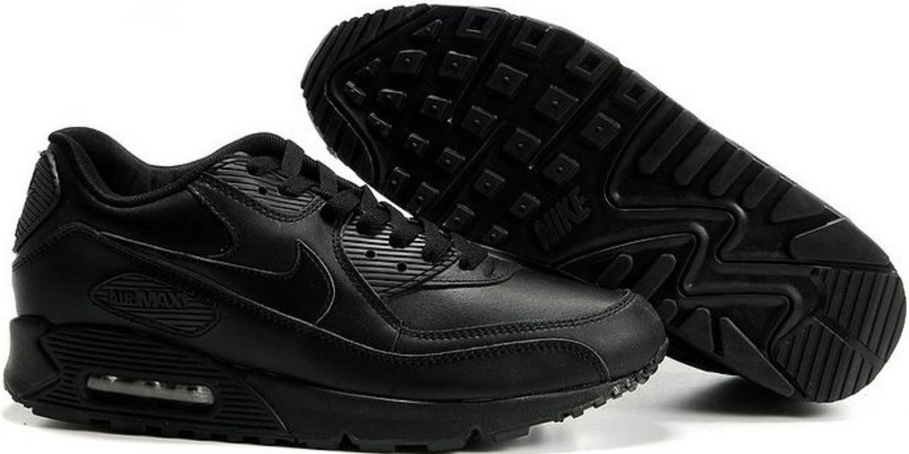 c6d350887b42 Мужские кроссовки найк Nike Air Max 90 Black Leather от магазина  tehnolyuks.prom.ua