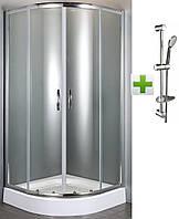 Душевая кабина FIESTA EGER (Венгрия)  90*90*200 см на мелком поддоне+NEMO штанга душевая L-70 см, ручной душ