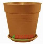 Горшок цветочный Глория 24х22,5 см бронзовый 6,6 л , Украина