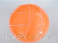 """Мяч резиновый Волейбол  (резина, вес-260г, р-р 22см (8,5""""), оранжевый, малиновый, лимонный)"""