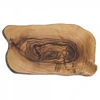 Блюдо меламиновое для подачи 44х25х1,6 см. прямоугольное, под дерево оливковое American Metalcraft