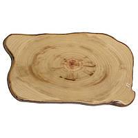 Блюдо меламиновое для подачи 44х25х1,6 см. прямоугольное, под дерево American Metalcraft