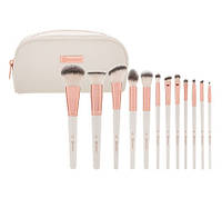 Набор кистей в косметичке Rosé Romance - 12 Piece Brush Set With Cosmetic Bag BH Cosmetics Оригинал, фото 1