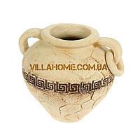 """Компактная ваза для улицы """"Крынка"""" Высота 23 см. Керамическая ваза."""