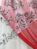 """Кухонные шторы """"Луиза"""" Красная, фото 3"""