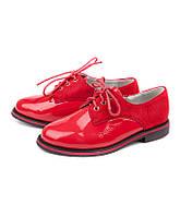 Весенние туфли для девочек на шнуровке от фирмы Леопард GB13-12 (8пар, 30-37)