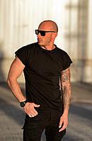 Мужская футболка с принтом на спине