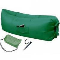 Надувной шезлонг — Premium (зеленый)