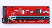 USB Riser райзер майнинг плата красная x1-x16 SATA разьем 60см