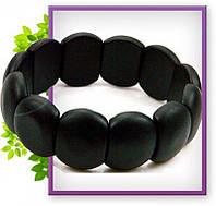 Браслет из настоящего черного нефрита Бяньши, черный браслет бяньши, целительный браслет бяньши