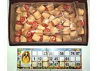Лото с деревянными бочонками (90 бочонков) I5-33, лото бочонки, игра лото, лото игра настольная