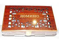 Домино в подарочном деревянном сундучке I5-26, лото игра настольная, домино