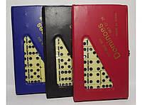 Домино в цветном чехле I4-12, домино настольная игра, игра домино, настольное домино