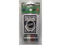 Покерный набор (24 фишки+колода карт) I4-1, набор для игры в покер, набор фишек для игры в покер