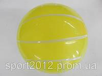 """Мяч резиновый Волейбол (резина, вес-120г, р-р 17см (6,5""""), оранжевый, малиновый, лимонный)"""