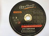 Круг отрезной 180*2,0*22,23 по металлу ТМ Градиент