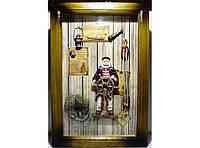 Ключница на 6 крючков в морском стиле KC054, ключница для дома, деревянный шкафчик для хранения ключей