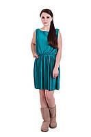 Платье женское зеленое плисе Mint&Berry