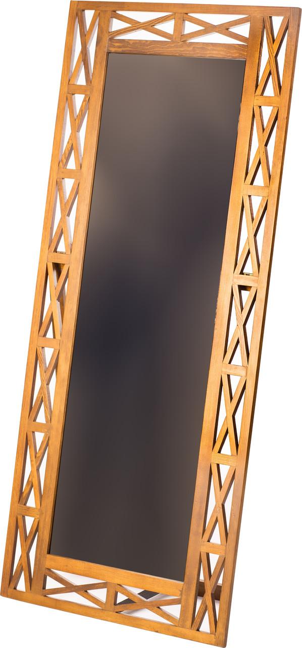"""Зеркало настенное/напольное ДРЕВОДЕЛЯ """"Версаль"""" 153х67см Орех (070103)"""