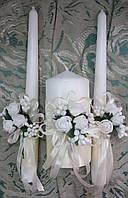 """Комплект свадебный свечей """"Кремовый букет"""""""