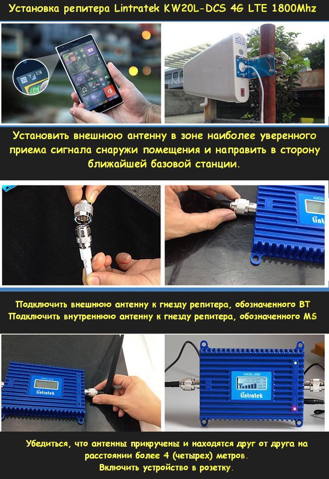 Установка Lintratek kw20l-DCS LTE. Пошаговая инструкция.