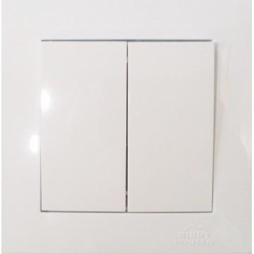Выключатель RIGHT HAUSEN 2-й внутренний  белый