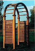 Арка Эдем-1 садовая для вьющих растений деревянная, фото 1