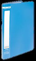 Папка пластиковая c 10 файлами А4 JOBMAX, синий