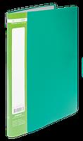 Папка пластиковая c 20 файлами А4 JOBMAX, зеленый