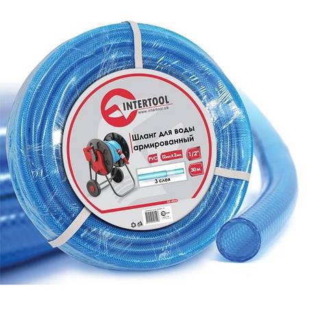 """Шланг для воды 3-х слойный 1/2"""", 30м, армированный PVC INTERTOOL GE-4055, фото 2"""