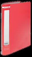Папка пластиковая c 10 файлами А4 JOBMAX, красный