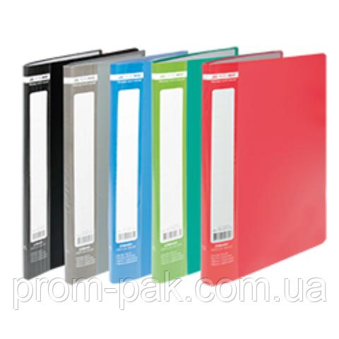 Папка пластикова з 20 файлами А4 JOBMAX, сірий